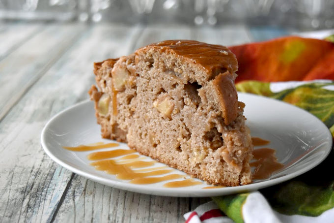 Irish Apple Cake is more quick bread than cake, but it's irresistible none the less. The apples floating in the slightly sweet cake is perfectly fall and perfectly comforting. #FallFlavors