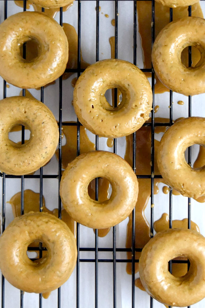"""The aroma of coffee will fill your kitchen! Maple Coffee Glazed Baked Donuts are one of those """"Nailed IT!"""" recipes your family and co-workers will love. #FallFlavors"""