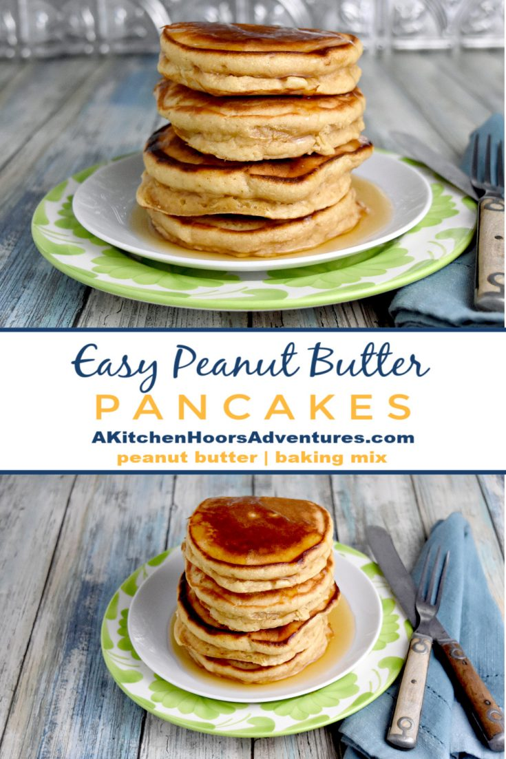 With just a few ingredients you can make Easy Peanut Butter Pancakes in no time for your family. They're great with maple syrup for breakfast or chocolate syrup for dessert.