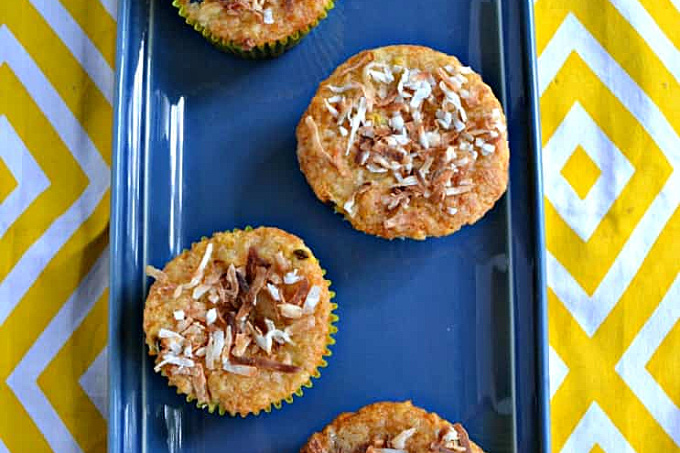 Banana Passion Fruit Muffins are packed with vitamin C packed papaya for better immune health.