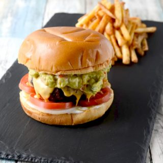 Carne Asada Burger with Chipotle Guacamole