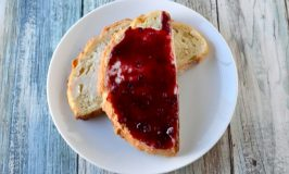 Surprisingly easy, Four Berry Jam uses a frozen four berry blend. It's a low or no sugar jam that comes together quickly and uses stevia or other sugar free sweetener. #BerryWeek