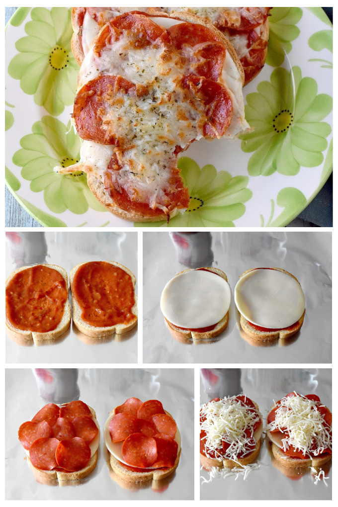 Pizza Toast is such a deliciously simple snack for any time! This one is topped with pepperoni and cheese, but you could top yours with anything you want! #BacktoSchoolTreats