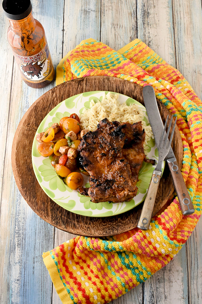 Grilled Curry Barbecue Chicken is tender, basted with a delicious curry barbecue sauce, and is super quick for even the busiest of weeknights!