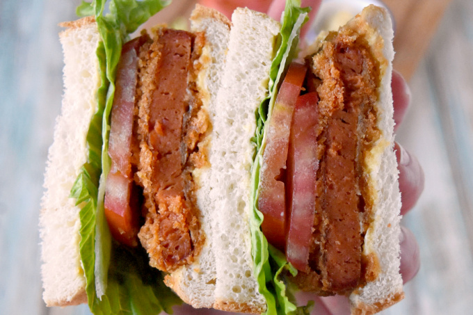 Keto Katso SPAM-do is a fun, pantry friendly version of the popular Japanese sandwich. With low carb bread (or just lettuce) you can have a fun sandwich for your family. #OurFamilyTable