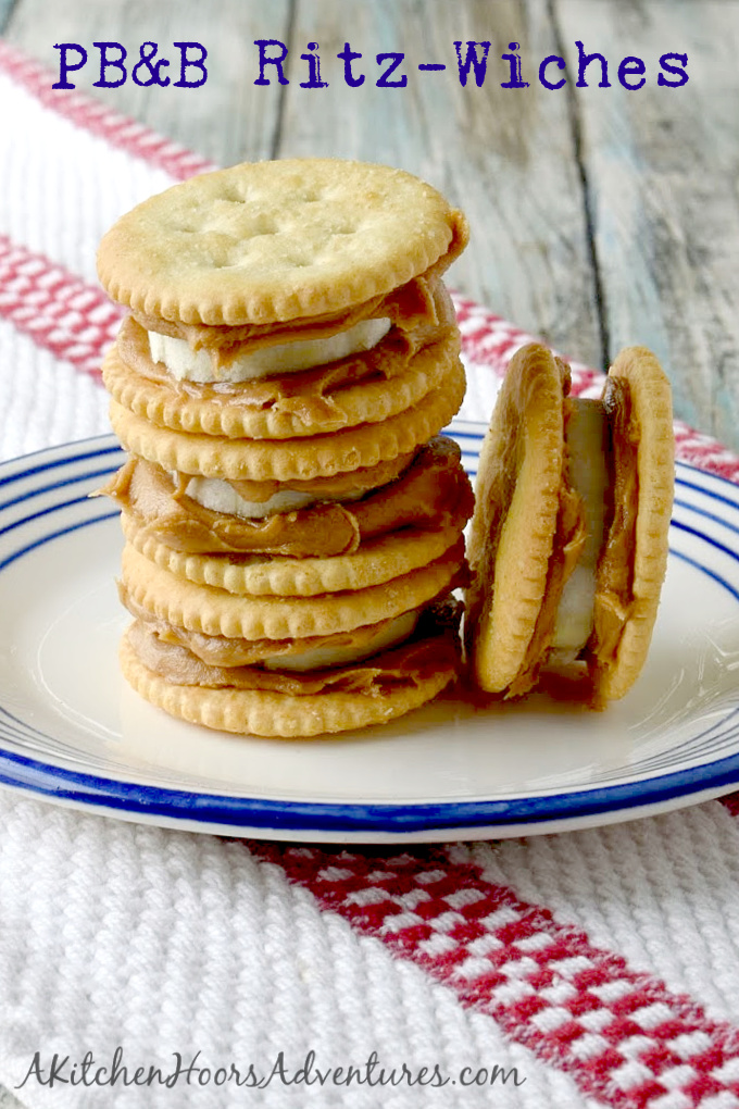 With just three ingredients, these PB&B Ritz-Wiches can appease the masses any time! They're quick to whip up and have plenty of nutritious goodness to tide everyone over until dinner is ready. #BacktoSchoolTreats