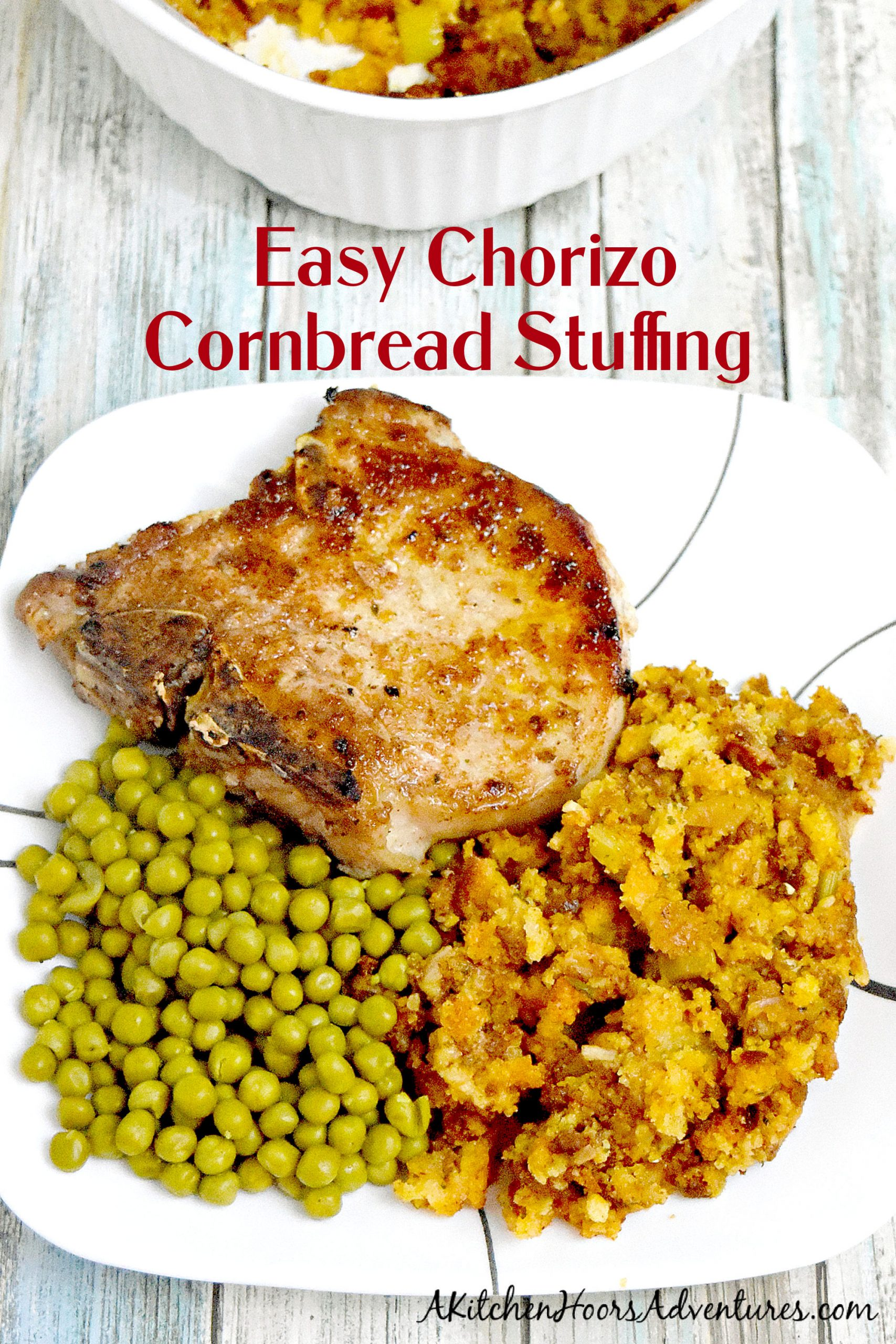 With the spicy kick of chorizo and traditional sage and cornbread flavors Easy Chorizo Cornbread Dressing will be a new family favorite for the holidays. #HolidaySideDishes