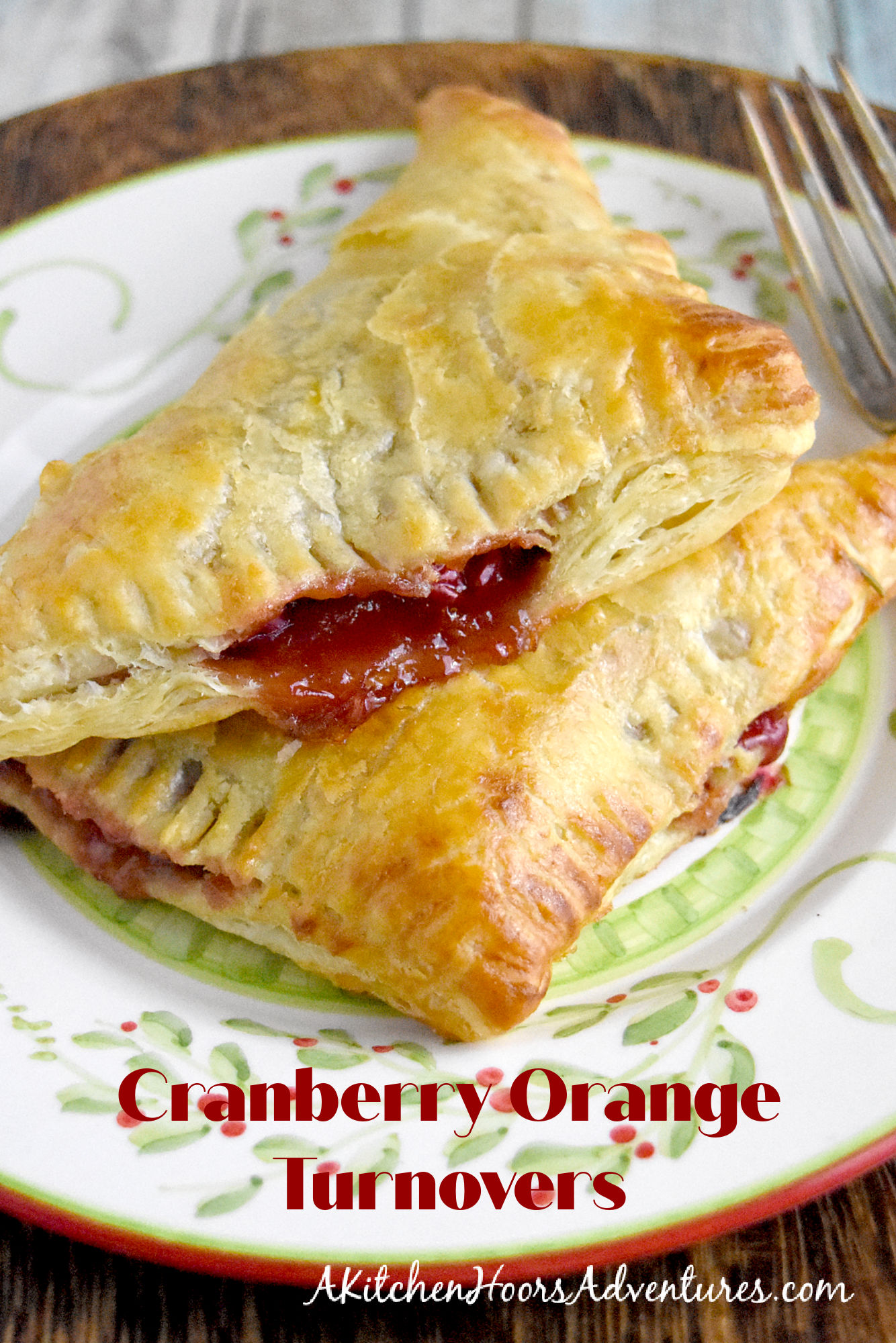 Cranberry Orange Turnovers are slightly sweet, slightly tart, and totally delicious! Made with puff pastry, they whip up in no time for a delicious dessert on the quick. #CranberryWeek