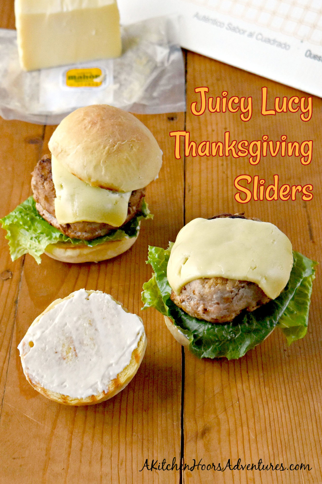 Leftover cranberry sauce and cheese from your charcuterie board combines to make Juicy Lucy Thanksgiving Sliders! A fun and delicious lunch for the family.