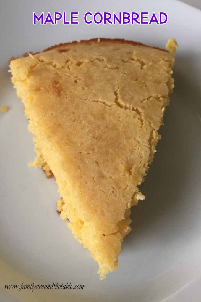 Maple cornbread goes well with soups, stews, chili and chowders.