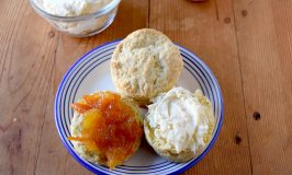 Mandarin Orange Scones are tender, flaky, and full of orange flavor.  Serve with clotted cream and Kumquat marmalade. #SpringSweetsWeek