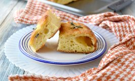 Pumpkin and Smoked Gouda Focaccia has a slightly sweet pumpkin flavor and delicious smokiness from the Gouda. It's perfect paired with pumpkin gnocchi. #PumpkinWeek
